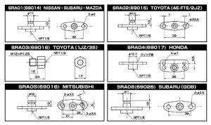 SARD フューエルレギュレターアダプター  スバル インプレッサ GC8 GF8 EJ20G/EJ20KEJ205/EJ2...
