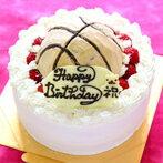 【バースデーケーキ/誕生日ケーキ】バスケットボールの立体デコレーションケーキ 6号【誕生日 誕生祝 記念日 バースデー ケーキ ショートケーキ デコレーション】