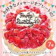 フローズンいちごと生乳アイスクリームのアイスデコレーションケーキ(7号)【バースデーケーキ(アイスケーキ)】【誕生日 誕生祝い 記念日 バースデー ケーキ チョコ アイスクリームケーキ】