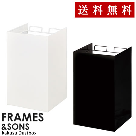 FRAMES&SONS kakusu レジ袋ダストボックス-2分別 UD14【同梱・代引不可です】キッチン ゴミ箱 おしゃれの写真