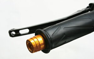 V-MAX1700(ABS)09〜12年バーエンド(ノーマルハンドル対応)ミドル(Φ22.2)ブラックFanatic(ファナティック)
