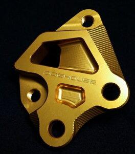 シグナスX(CYGNUS-X)SEA5J/16年〜BREMBO(ブレンボ)40mmピッチ245mmフロントディスク用キャリパーサポートゴールドDOGHOUSE