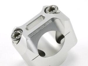 ビーウィズ(BWS125)Φ28.6mmテーパーハンドル用ハンドルクランプセットシルバーDOGHOUSE