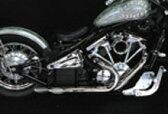 バルカン400(VULCAN) ツインソードマフラー アメリカンドラッガーズ(AmericanDragers)