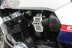 CBX400Fロゴ入りメッキキャブレターサイドカバーACP(エーシーピー)