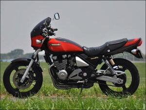 ゼファー400(ZEPHYR)89~95年マスカロードクリアスクリーンエボニー/キャンディプラズマブルー(火の玉)18Lエアロスクリーンシックデザイン