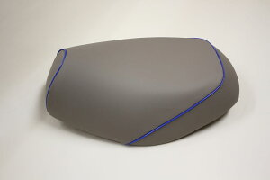 リトルカブ(CUB)C50被せタイプ国産シートカバーグレーカバー・青パイピングGRONDEMENT(グロンドマン)