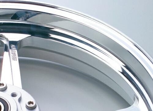 Z1000(14年) アルミニウム鍛造ホイール TYPE-R 350-17 フロント用 ポリッシュ GALE SPEED(ゲイ...
