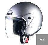 CROSS CR-720 ジェットヘルメット シルバー リード工業