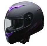 ZIONE フルフェイスヘルメット パープル L(59〜60cm未満) リード工業