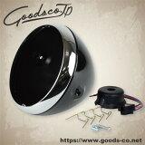 7インチルーカスタイプヘッドライトケース グロスブラック GOODS(モーターガレージグッズ)
