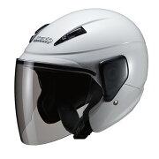 セミジェットヘルメット ホワイト マルシン
