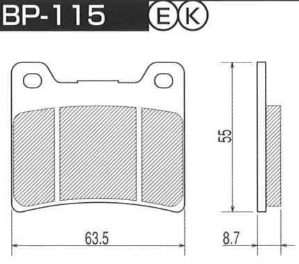 ブレーキ, ブレーキパッド  BP-115 Project FZR750ROW01 89