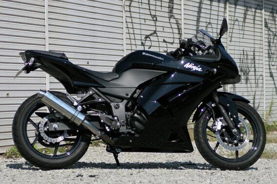 Ninja250R(ニンジャ) Aria ステンレスサイレンサー TypeC(カールエンド)スリップオン リアライズレーシング(RealizeRacing)画像