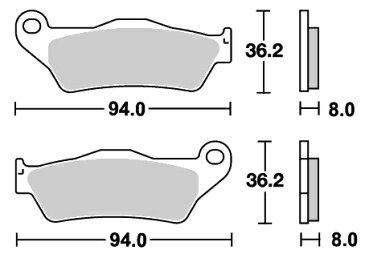 Aprilia MX125(04年) オフロード(シンター)ブレーキパッド フロント用 671SI SBS(エスビーエス)