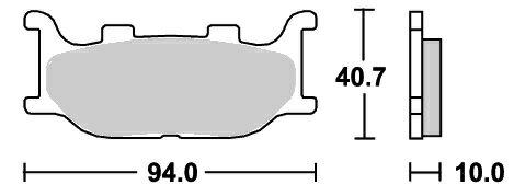 ブレーキ, ブレーキパッド 250VIRAGO9496 691HS SBS