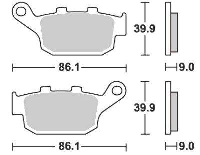 【歳末セール限定価格18日18時迄】GSR250/S ストリートエクセル(シンター)ブレーキパッド リ...