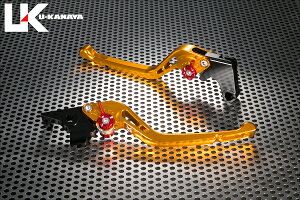 KSRPRO(プロ)GPタイプロングアルミビレットレバーセット(ゴールド)U-KANAYA