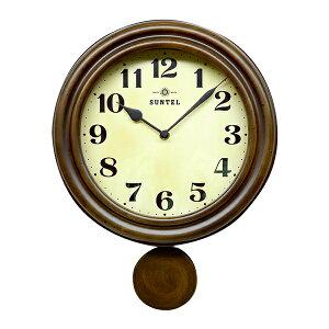 昭和初期の時計をイメージしたレトロ電波振り子時計!!日本製 レトロ電波振り子柱時計 アンテ...