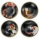 江戸猫ぐらすシリーズ丸皿お膳・6743