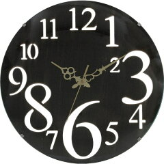 デザインのあるおしゃれな時計。1ピース1カートンのため、贈り物にも最適。■完成品壁掛け時計 ...