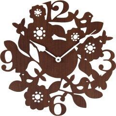 木をデザインしたおしゃれな時計。1ピース1カートンのため、贈り物にも最適。■完成品壁掛け時...