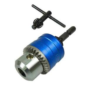 先端工具・ドリルアタッチメントのドリルチャック・補助製品SDCK-02NB(ブルー。カラフルなキ...