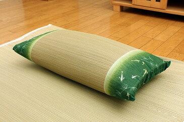 低反発ウレタンチップ入り い草枕 『涼水 低反発枕 箱付』 グリーン 約50×30cm