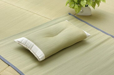 医師との共同開発 い草枕 『アスク 低反発枕 箱付』 約50×30×10〜12cm(中材:低反発ウレタンチップ)