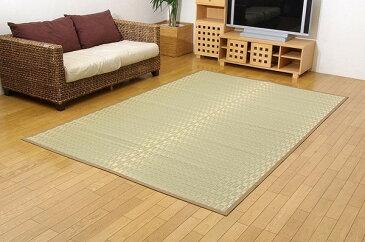 純国産 掛川織 い草カーペット 『松川』 ベージュ 本間6畳(約286×382cm)