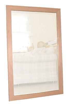フラット,フレーム,ウォール,ミラー,60×90cm,無塗装,鏡,壁掛け鏡,ナチュラル,木製,送料,無料