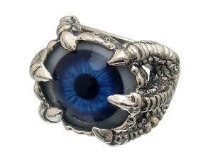 ドメスティックブランドシルバー925リアル義眼リング TSR-102ブルー【目玉の色は5色から…