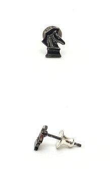 PUERTADELSOL(プエルタデルソル)530ブラック-rightナイトスタッドピアスUndertheRose