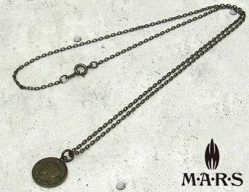 M・A・R・S(MARS/マーズ)M3510N【MIZPAHコインネックレス】45cmブラックチェーン付♪【シルバー925/ブラックコーティング】ペンダントネックレス/メンズ/レディース【シルバーアクセサリー】【_包装】