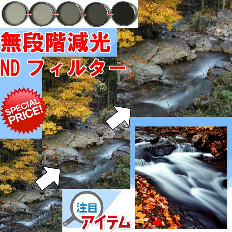 ZEROPORT JAPAN 可変式 減光フィルター Fader ND フィルター 72mm