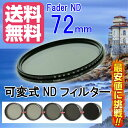 FOTOBESTWAY 可変式NDフィルターFader NDフィルター72mm