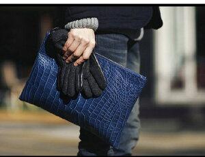 VOW&ZON クラッチバッグ メンズ フェイクレザー セカンドバッグ ハンドバッグ クラッチバック 書類 タブレット PC スマホ スリーブ ビジネス 通勤 鞄 かばん クロコ型押し