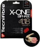 Tecnifibre(テクニファイバー)スカッシュストリングX-One Biphase(φ1.18)レッド【あす楽対応】【郵便発送可】【あす楽土曜営業】【あす楽日曜営業】