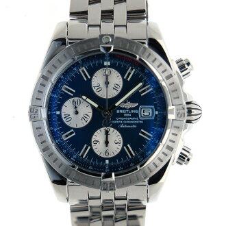 Brightman ring BREITLING Kurono mat evolution A156C45PA self-winding watch blue USED