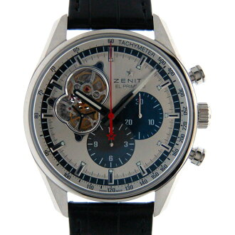 Zenith ZENITH Chronomaster open 1969 03.2040.4061/69.C496 silver leather new