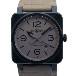 Bell&Ross【ベル&ロス】 92-DESERT-CA/SCA デザートタイプ 腕時計 /革 メンズ
