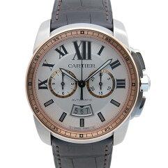 CARTIER【カルティエ】 クロノグラフ  腕時計 /革 メンズ