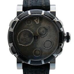 Romain Jerome【ロマン・ジェローム】 RJ.MO.F1.11BB.00 腕時計 /革 メンズ