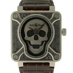 Bell&Ross【ベル&ロス】 バーニングスカル 7423 腕時計 ステンレススチール/レザー メンズ