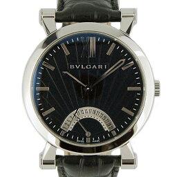 BVLGARI【ブルガリ】 7685 ステンレス/ レザー SB42BSLDR メンズ