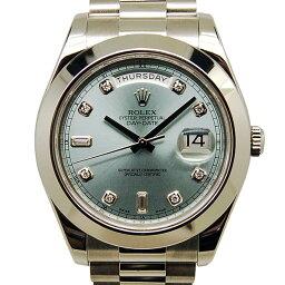 ROLEX【ロレックス】 Ref.218206A 腕時計 プラチナ/プラチナ メンズ