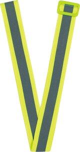 高輝度反射バックル付黄色反射タスキ蛍光黄色メール便可