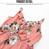 キッズ子供服花柄ワンピースナチュラル女の子ガールズ布帛ジュニア120cm130cm140cm150cm160cm「R39-10」