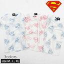 【メール便 送料無料】 メンズ SUPERMAN 総柄ロゴTシャツ 半袖Tシャツ 裏刷プリント「BS29-103」
