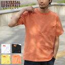 Tシャツ Tee メンズ カットソー 半袖 クルーネック ワンポイント UNIVERSAL OVERALL ユニバーサルオーバーオール ZIP ジップ 春 春物 春服(u2013232) 送料無料-除外地域有